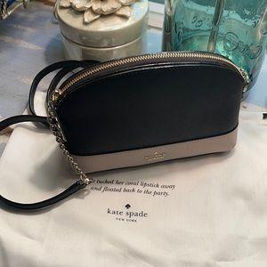 NWT KATE SPADE Black/Beige Crossbody Bag w/Dustbag